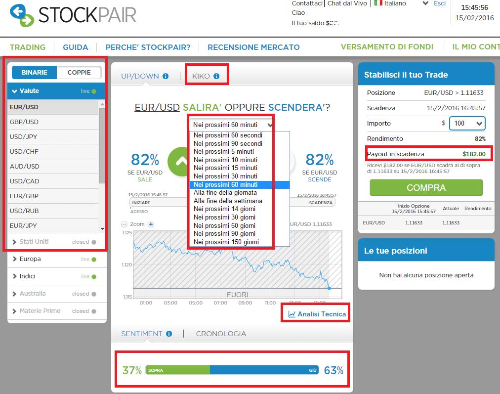 stockpair piattaforma trading opzioni binarie